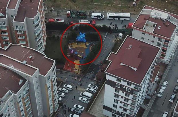 Çekmeköy'de helikopter kazası
