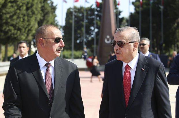 Azerbaycan Cumhurbaşkanı İlham Aliyev Cumhurbaşkanı Recep Tayyip Erdoğan