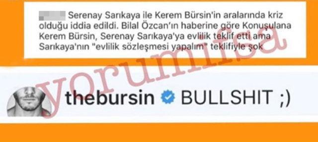 Serenay Sarıkaya ile aşk yaşayan Kerem Bürsin'den o iddialara tek kelime yanıt! - Magazin haberleri