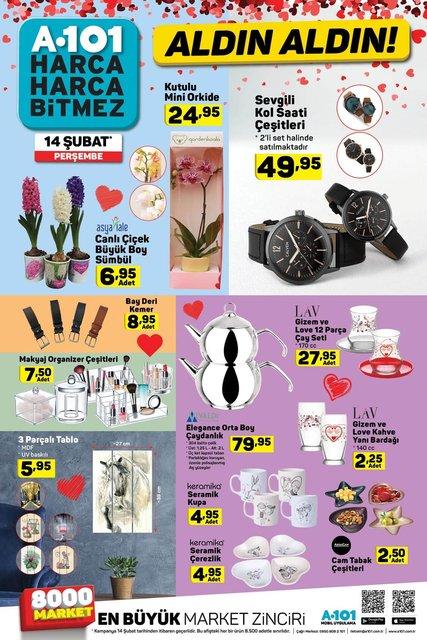 A101 aktüel ürünler kataloğu 14 Şubat Sevgililer Günü özel! A101'de bu hafta indirimli neler var?