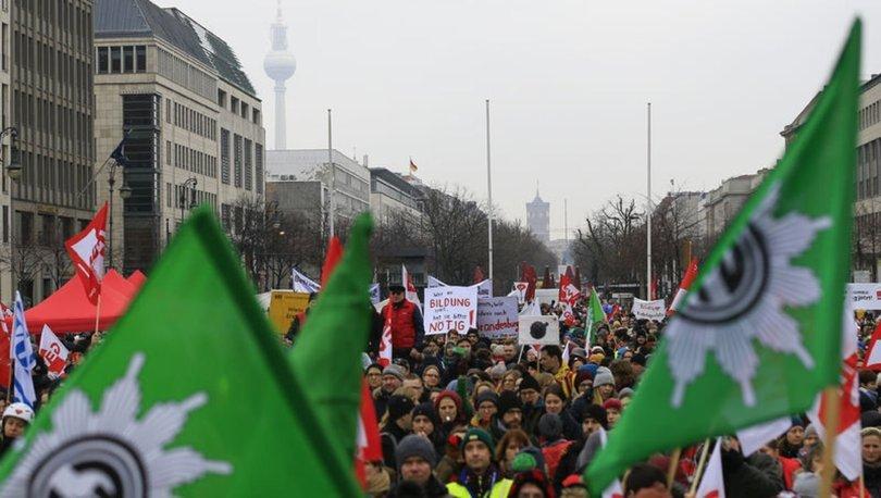 Almanya kamu çalışanları grev