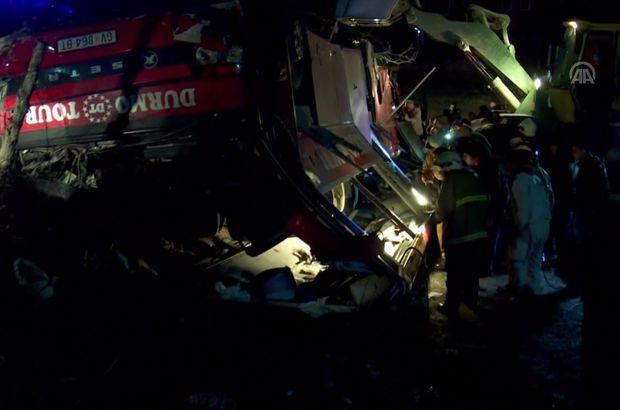 Makedonya yolcu otobüsü trafik kazası