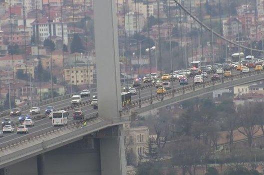Bölgede trafik yoğunluğu oluştu