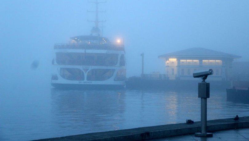 Son dakika: İstanbul'da deniz ulaşımına sis engeli! Tüm seferler iptal