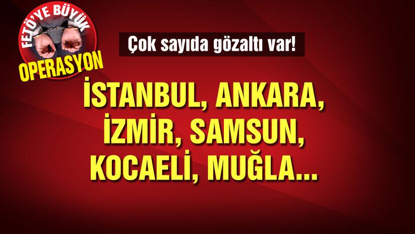 İzmirde büyük FETÖ operasyonu! 176 gözaltı kararı!