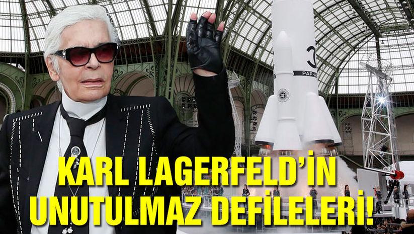 Tarihe iz bırakan Karl Lagerfeld defileleri!
