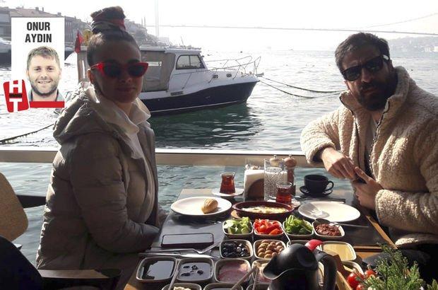 Ünlü çiftin kahvaltı keyfi