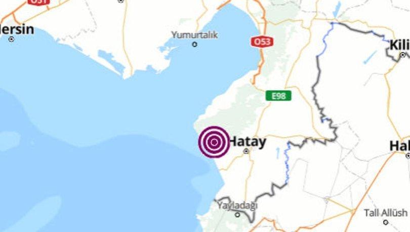 Son dakika deprem: Hatay'da 4 büyüklüğünde deprem - Son depremler