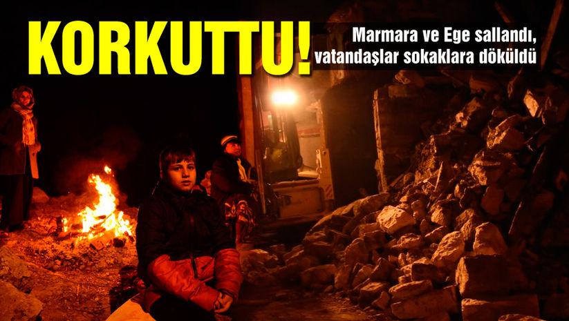 Çanakkalede deprem! İstanbulda hissedildi