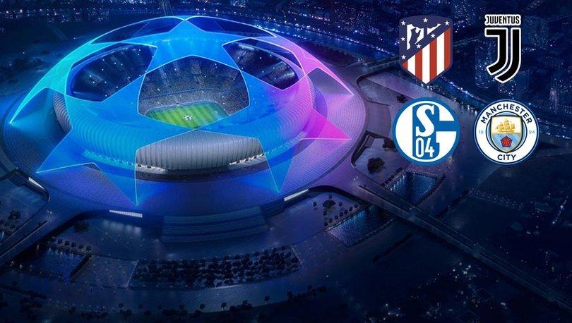 Şampiyonlar Ligi canlı - Atletico Madrid Juventus / Schalke 04 Manchester City