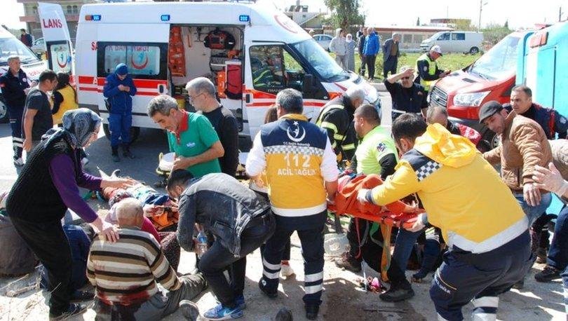 Mersin'de feci kaza! 4 ölü, çok sayıda yaralı...