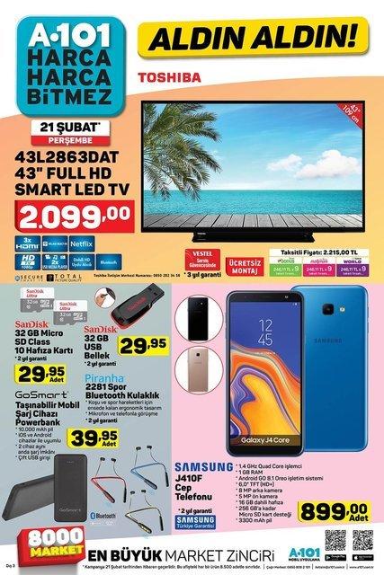 A101 21 Şubat aktüel ürünler kataloğu: Samsung cep telefonu var! A101'de bu hafta indirimli neler var?