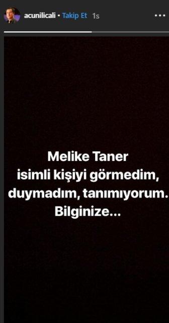 Acun Ilıcalı'dan Melike Taner açıklaması - Magazin haberleri