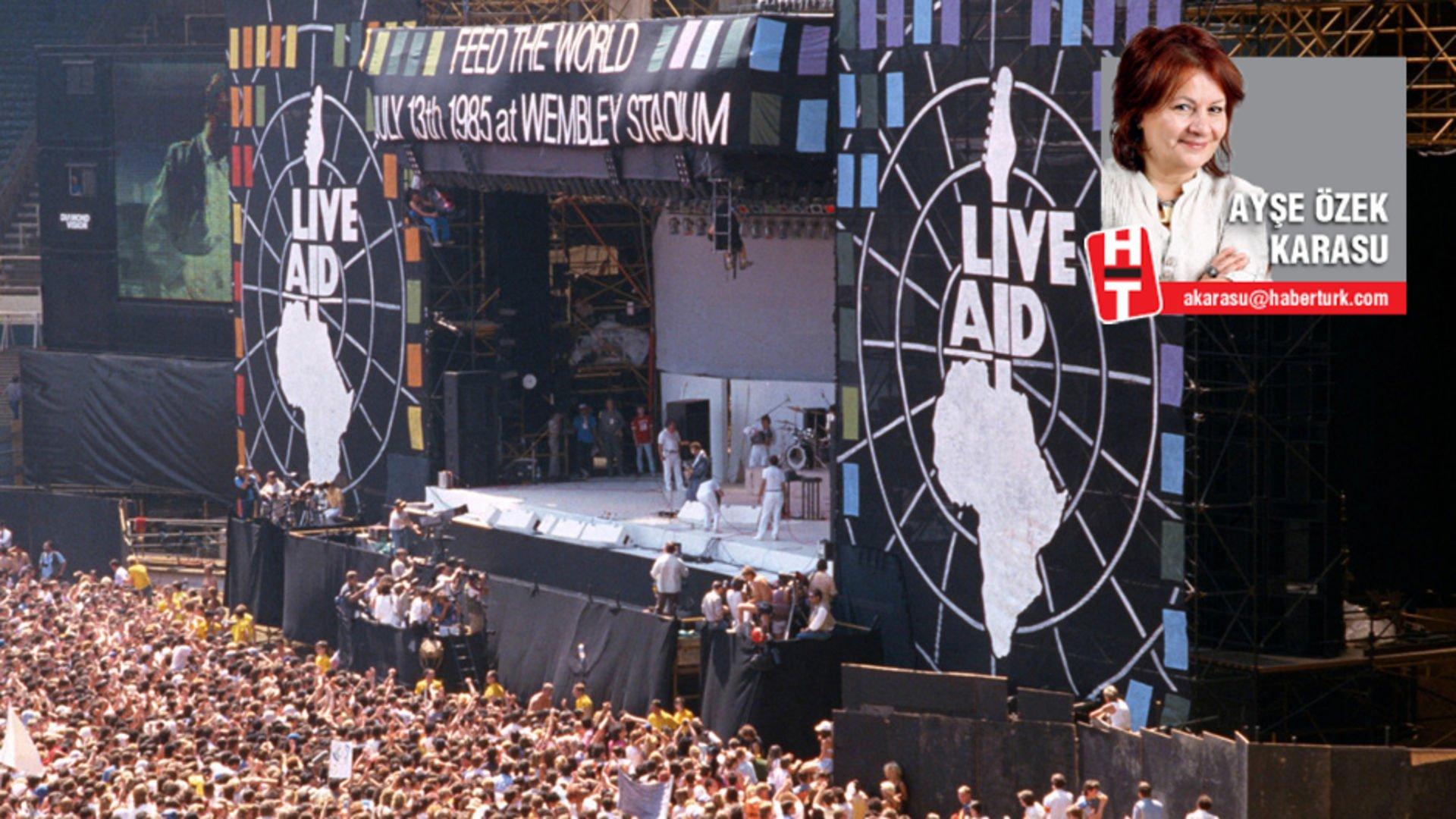 Sadece Venezuela'dan değil, 'Live Aid' hatırasından da çekin ellerinizi