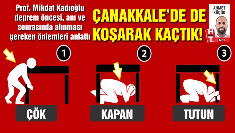 Çanakkale depremi bir kez daha hatırlattı! Prof. Kadıoğlu uyardı