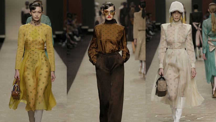 Karl Lagerfeld'in elinin değdiği son Fendi defilesi