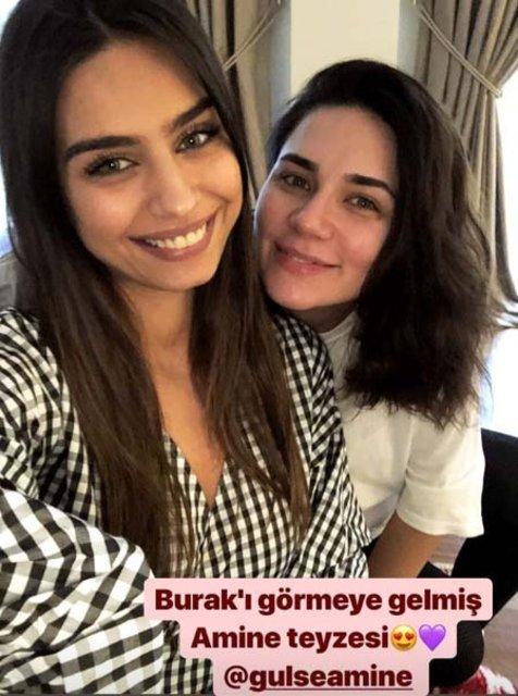 Alişan'ın eşi Buse Varol: Amine Gülşe teyzesi Burak'ı görmeye gelmiş - Magazin haberleri