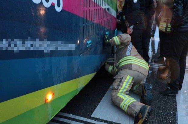 'Bebeğim orada' deyip otobüsün altına girdi!