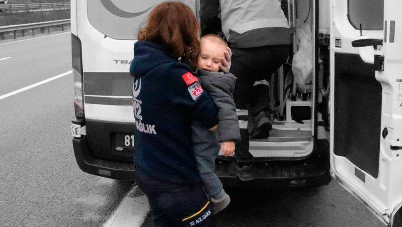 Düzce'deki feci kazada anne-baba öldü, çocukları yaralı kurtuldu