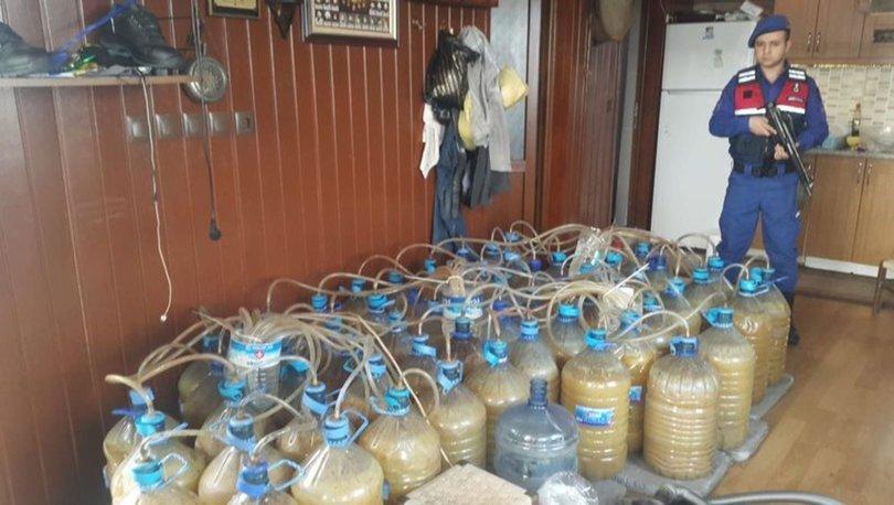 Bursa'da bin 400 litre kaçak alkol ele geçirildi