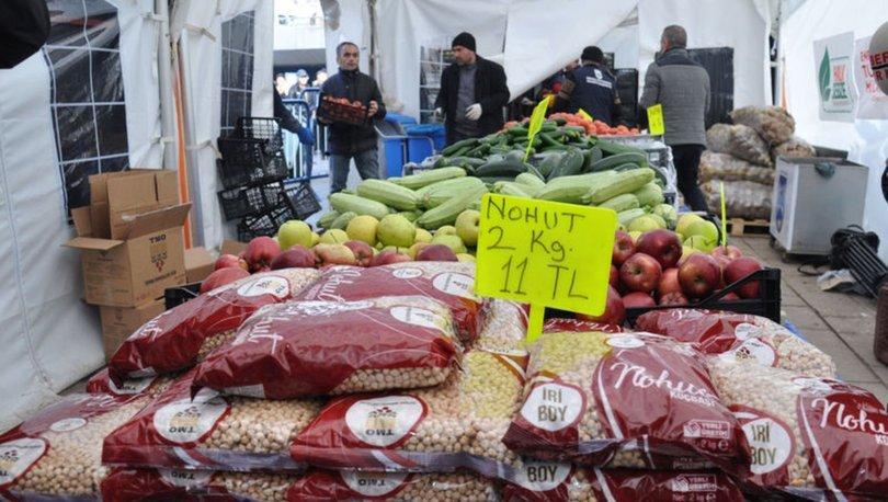 İlk gün 33 ton bakliyat satıldı