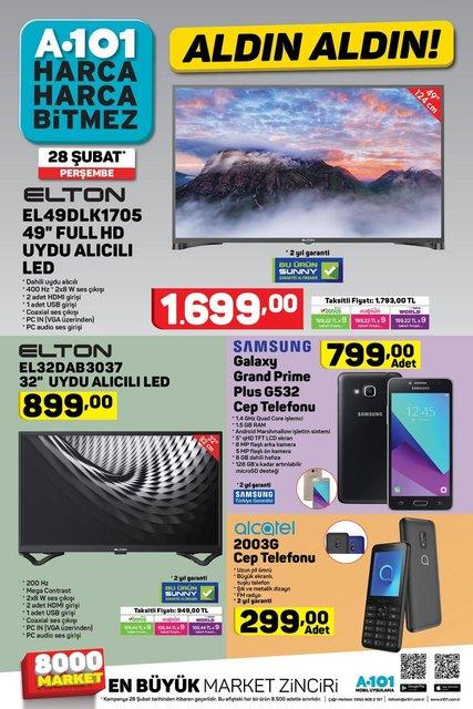 A101 28 Şubat 2019: Aktüel ürünler kataloğu yayımlandı! A101'de yarın satışa çıkacak ürünler listesi