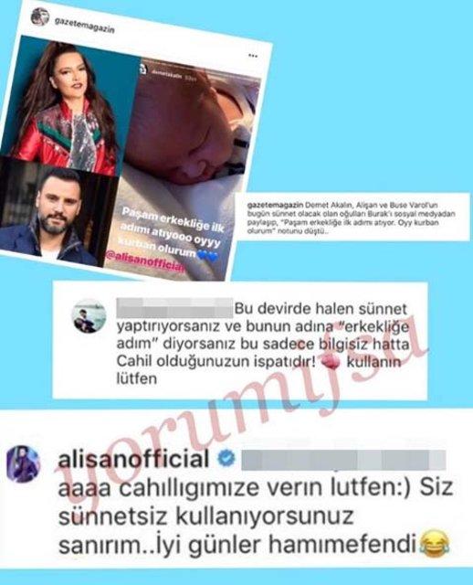 Alişan'dan takipçisine olay yanıt: Siz sünnetsiz kullanıyorsunuz sanırım! - Magazin haberleri