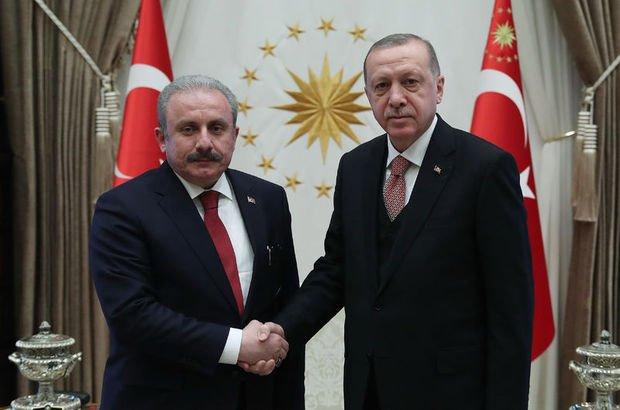 Erdoğan, Meclis Başkanı Şentop'u kabul etti