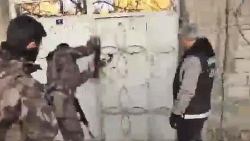 Zehir taciri polis baskınında ikinci kattan atladı
