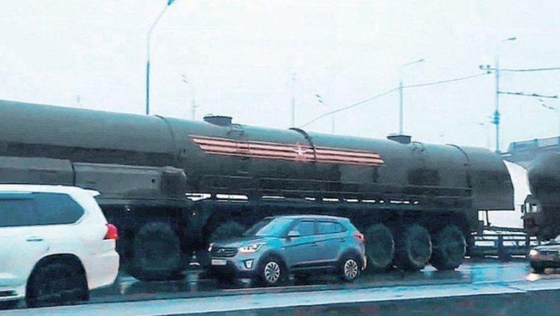 Rus füzesi trafiğe takıldı