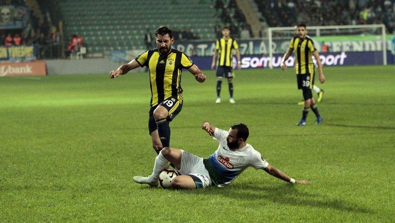 Fenerbahçe ile Çaykur Rizespor 36. maçına çıkıyor