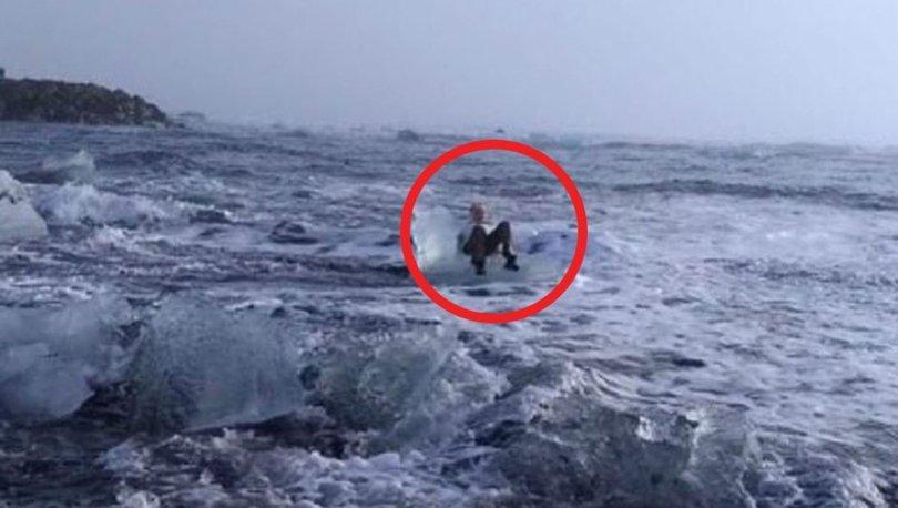 77'lik büyükanne buzun üzerinde mahsur kaldı