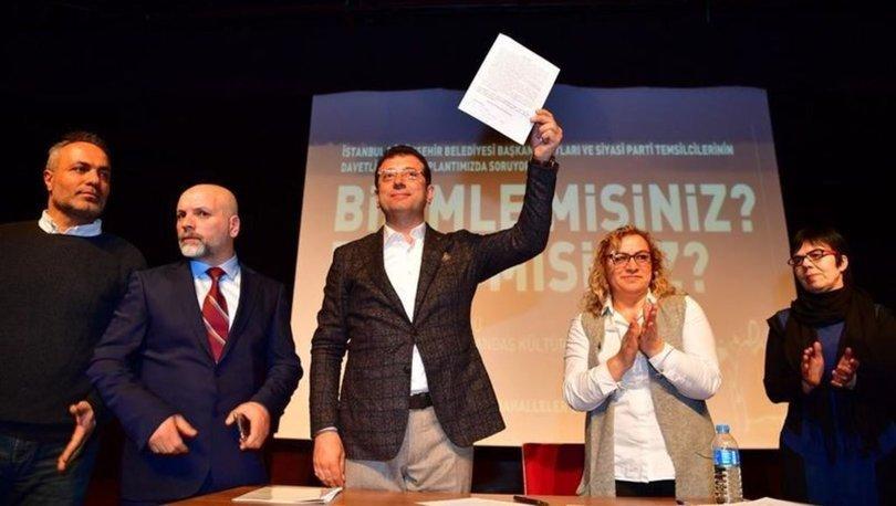 Ekrem İmamoğlu, Mahalle Birlikleri'yle 6 maddelik taahhütname imzaladı