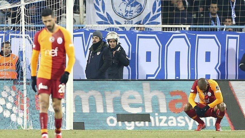 Galatasaray, 12 deplasman maçında 18 puan bıraktı!