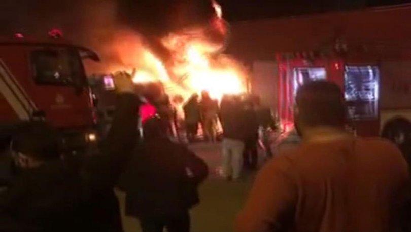 Kartal İstanbul yedek parça deposu yangın