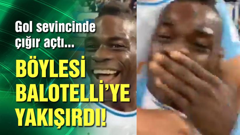 Balotelli'den görülmemiş gol sevinci!
