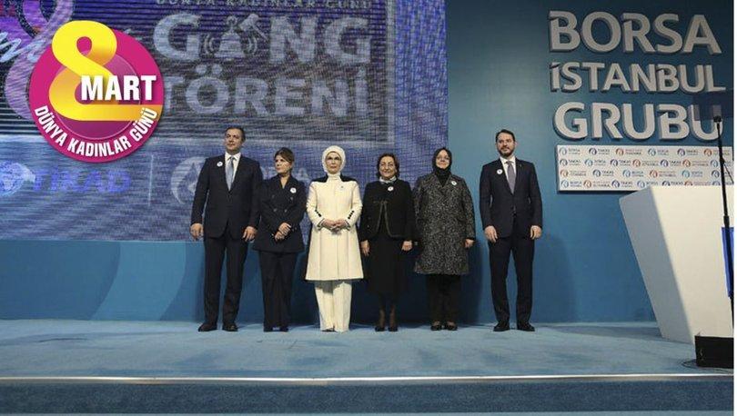 Bakan Albayrak'tan Borsa İstanbul'da kadınlar günü gong töreninde açıklamalar