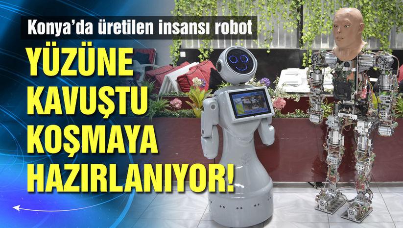 Konya'da üretilen insansı robota yüz eklendi!