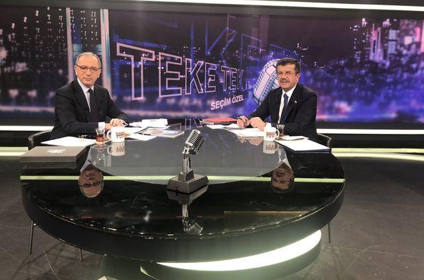Nihat Zeybekci Habertürk'te soruları yanıtladı