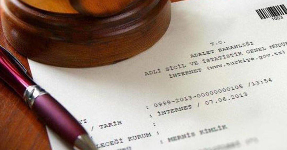 Devlet çift sorgulu adli sicil kaydı