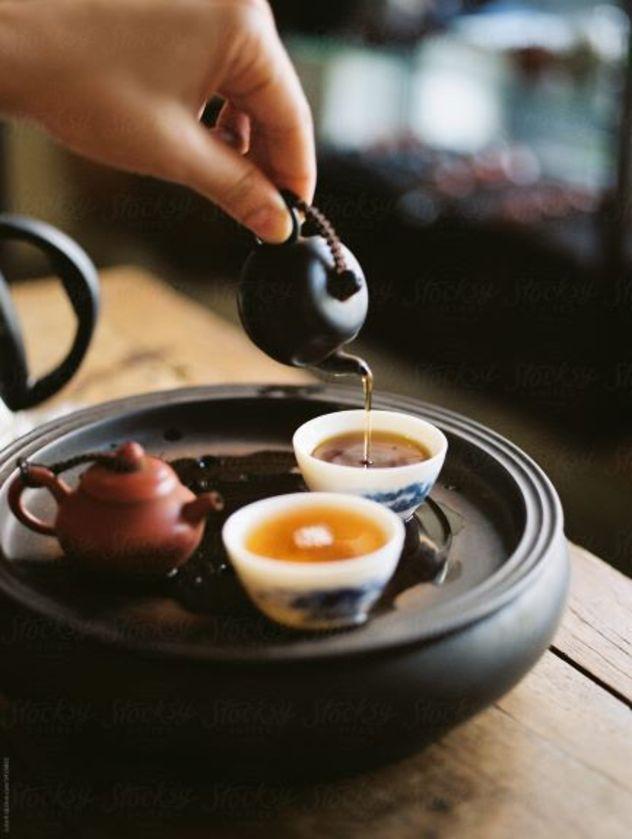 Tek içimlik çay...