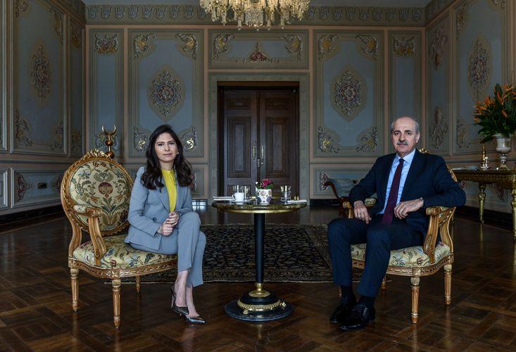 AK Parti Genel Başkanvekili Numan Kurtulmuş ile Çırağan Sarayı'nda buluştuk