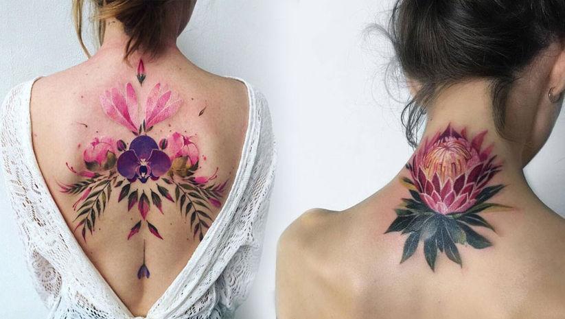 Vücudunuzda çiçekler açtıracak dövmeler!