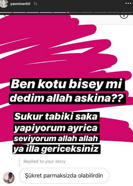 Yasmin Erbil bu yoruma çok sinirlendi! Yasmin Erbil'den son dakika sitem...