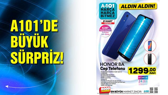 A101 21 Mart 2019 kataloğu yayınlandı! Honor 8A ilk defa A101'de satılıyor... A101 tam liste ürünler