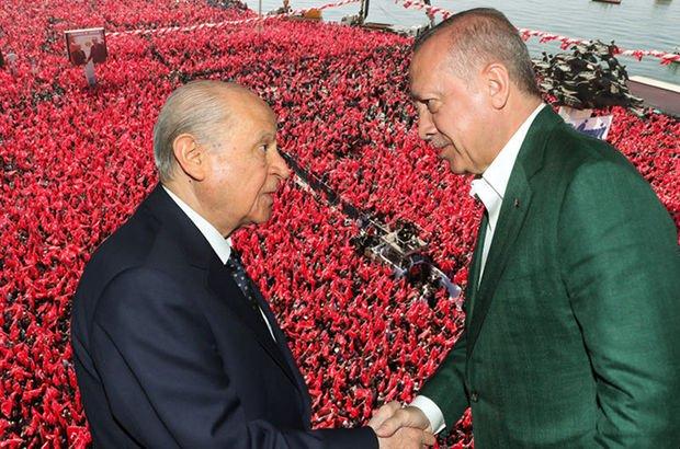 Cumhurbaşkanı Erdoğan ve MHP lideri Bahçeli İzmir'de