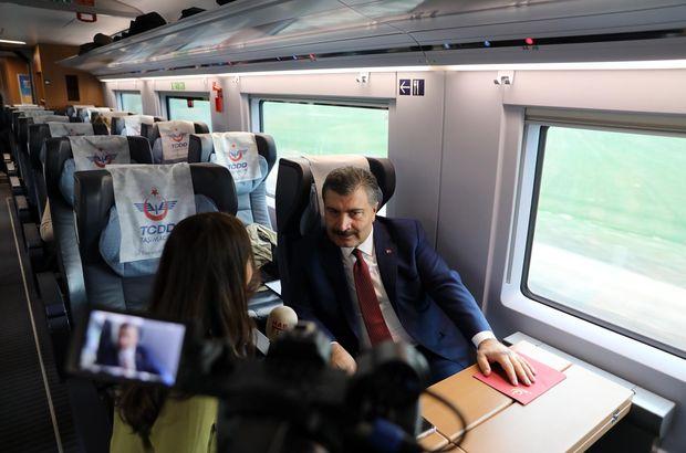İlk hızlı tren yolculuğunu Habertürk ile yaptı!