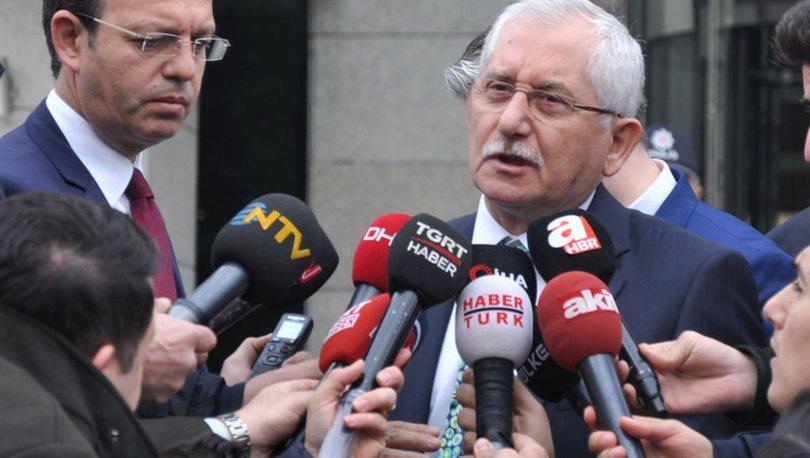 YSK Başkanı Güven'den son dakika açıklamalar