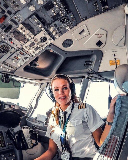 Dünyanın en çekici pilotu Malin Rydqvist