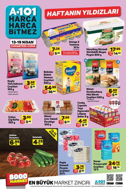 A101 13-19 Nisan Aktüel ürünler kataloğu! Bu hafta A101'de hangi ürünler kampanyalı?